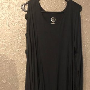 Maurices 24/7 lattice sleeve black dress tunic.